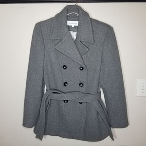 Calvin Klein P10 Grey Wool Pea Coat